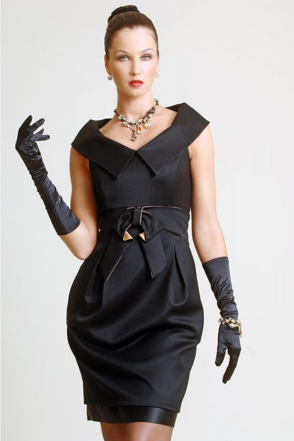 Black Dress ,Custom Made, by Maire Forkin Designs