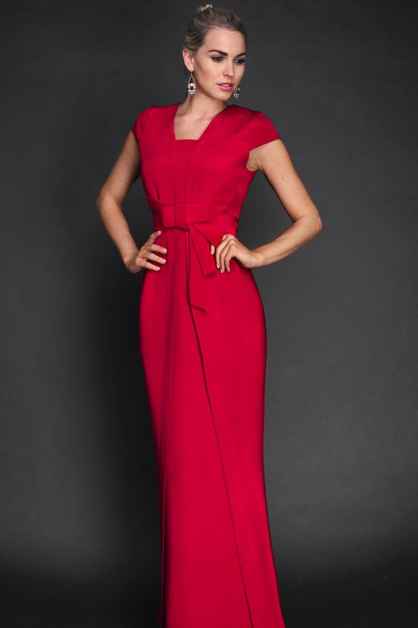 Full length Red Dress by Maire Forkin Designs