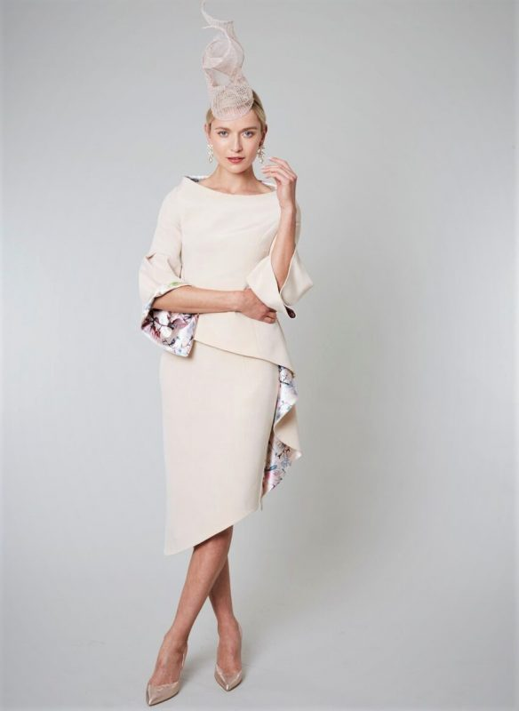 ustom made designer Cream Dresses | Maire Forkin Designs