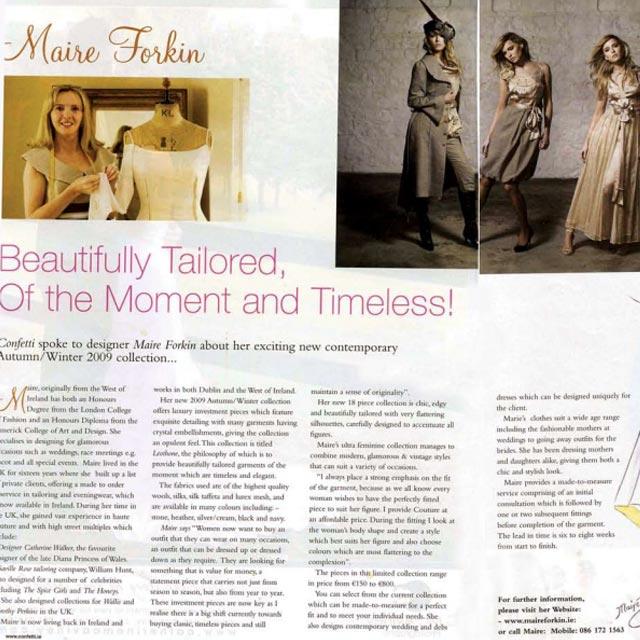 Designer Maire Forkin in Irish Times
