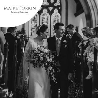 Classic Wedding Dress by Maire Forkin Designs