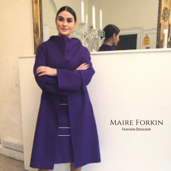 Ladies Long wool coat, Ireland by Maire Forkin