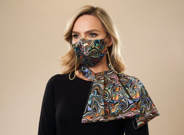 Designer Face Mask & Matching Scarf ideal for a Christmas Gift