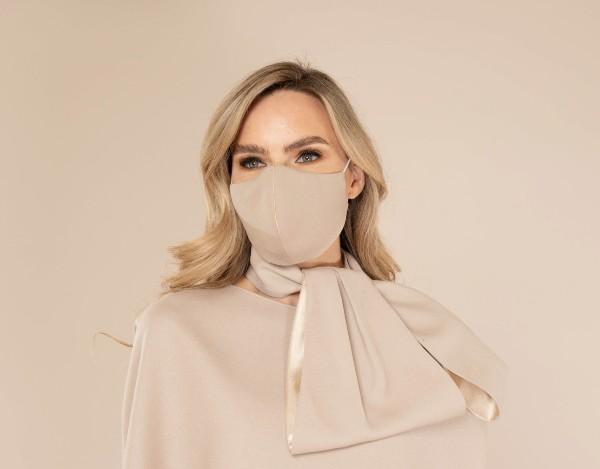 Designer Cream Wool Face Mask