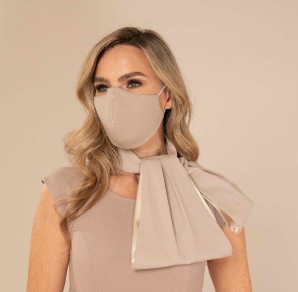 Designer Ivory Wool face mask