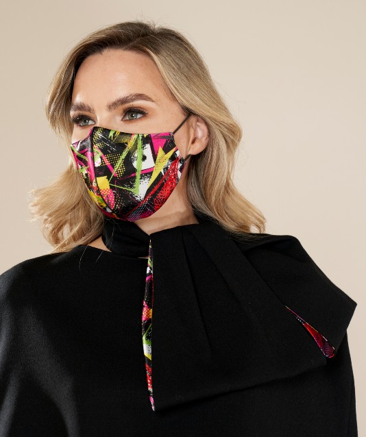 Designer Silk Face Mask and Matching Scarf