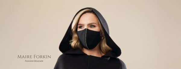 Black Wool Face Mask Banner By Maire Forkin Designs