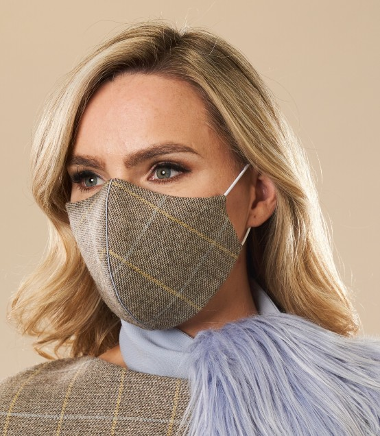 Heather Wool Face Mask by Maire Forkin Designs