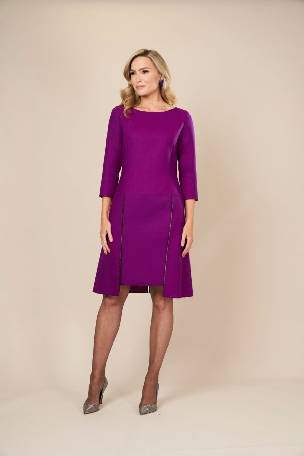 Purple Classic flapper dress by Maire Forkin Designs
