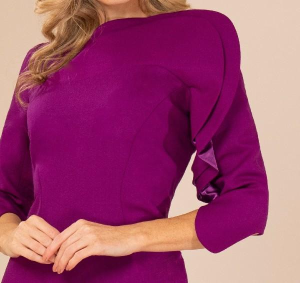 Purple Designer Wool Dress Maire Forkin Designs