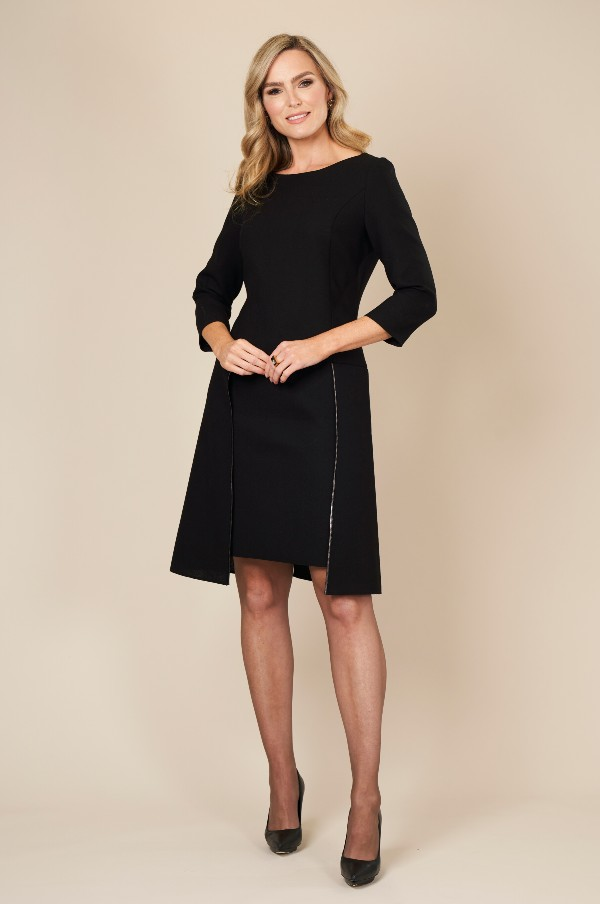Black, Chic, timeless flapper dress by Maire Forkin Designs
