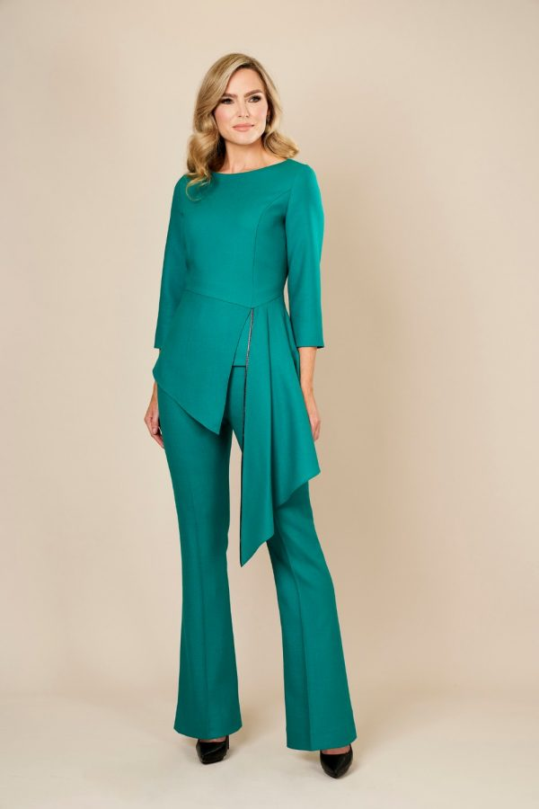 Green Trouser Suit by Maire Forkin