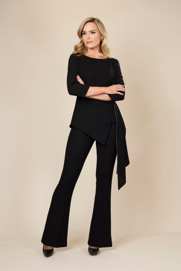 Black contemporary Trouser Suit by Maire Forkin