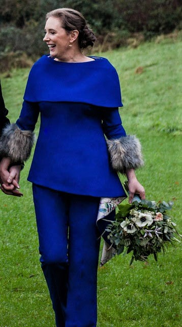 Blue Trouser Suit